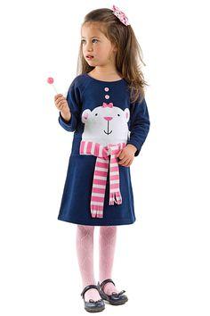 Denokids Girls' Polar Bear Dress in Navy Blue - Beyond the Rack 33$