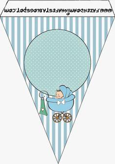 Cochecito Celeste de Bebé: Imprimibles Gratis para Fiestas.                                                                                                                                                                                 Más
