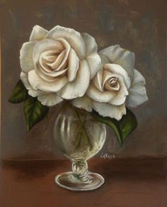 roses blanches pastels secs