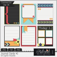 Journal or Pocket Scrapbooking Layered Templates Pack No 3, Commmercial Use, Tiff, PNG, PSD, Photoshop, Designer Resource, Digital Scrapbooking