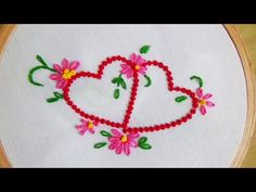 Hand Embroidery: Button Hole Stitch (Closed) - YouTube