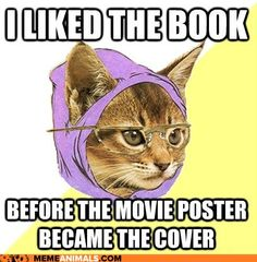 Hipster Kitty: I'll Keep My First Edition Hardcover Thank You