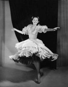 Audrey Hepburn dancing. She was classically trained in ballet.