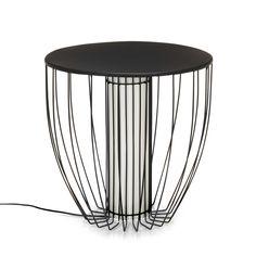 Bout de canapé lumineux en acier Noir - Kama - Nouveautés - Promos - Alinéa