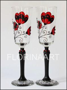 #Gothic #Wedding #Glasses #Black #glasswere #red #dark #Burlesque