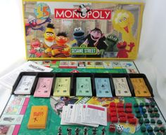 Sesame Street Monopoly Board Game
