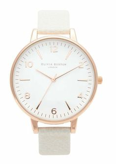 Large White Face Watch Rose Gold & Mink - Watch - Ideas of Watch - Olivia Burton Large White Face Watch Rose Gold & Mink main image Accessoires Divers, Jewelry Accessories, Fashion Accessories, Trendy Accessories, Rose Gold Watches, Beautiful Watches, Bracelet Watch, Large White, Ladies Watches