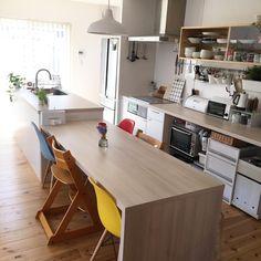いいね!94件、コメント1件 ― @kana_homeのInstagramアカウント: 「2018.3.17 #キッチン#ダイニング . お返事前にすみません こんばんわ( ¨̮ ) . 昨日シンプルホームさん @simplehome_official…」