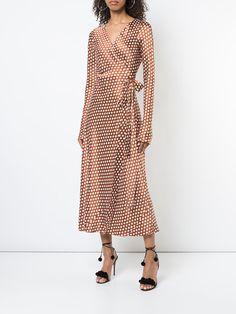 Dvf Diane Von Furstenberg Baker Dot Wrap Dress - Farfetch