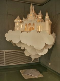 DIY and Decor Place : paper castle Diy Paper, Paper Crafting, Paper Art, Origami Paper, Decoraciones Ramadan, Diy And Crafts, Crafts For Kids, Stick Crafts, Kids Diy