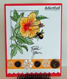 Thank You with a Button - for Eureka Stamps