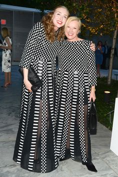 Rachel Feinstein and Cindy Sherman in Marc Jacobs SS13 at MoMA's Party in the Garden