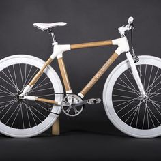 Fancy - White Bamboo Bike Single Speed