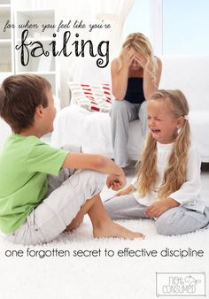Do you feel like you are failing as a parent? So often when I find myself frustrated with the same issues, I realize that I have forgotten this one thing...
