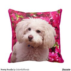 Pretty Poodle Throw Pillows