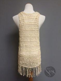 Boho Crochet Fringed Vest | Jane