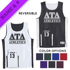 Fraternity Personalized Intramural Athletics Reversible Mesh Tank