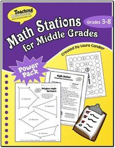"Math Stations for Middle Grades is designed for grades 3 through 8. (The term ""middle grades"" in the title refers to upper elementary and lower middle school.)The resources in this ebook will make it easy for you to implement math stations or math centers in your classroom."