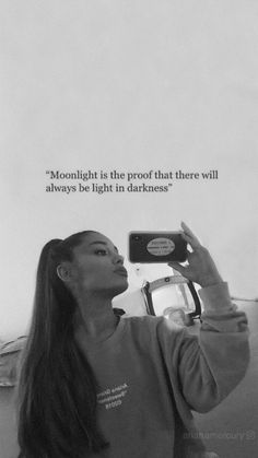 And he calls me moonlight too 🎵 - Ariana Grande ! Ariana Grande Tattoo, Tumblr Ariana Grande, Photos Ariana Grande, Ariana Grande Quotes, Ariana Grande Lyrics, Mode Collage, Now Quotes, Movie Quotes, Funny Quotes