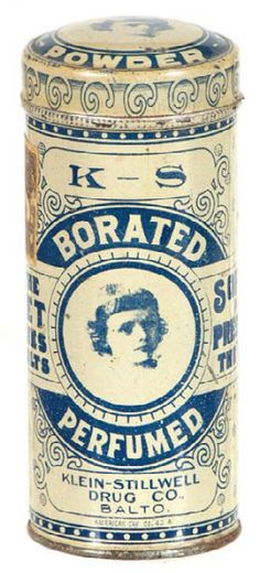K-S Talcum Tin | Antique Advertising Value and Price Guide