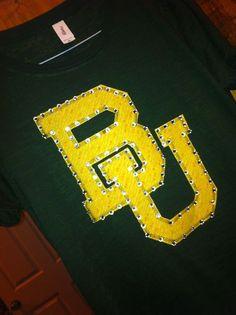 Baylor University Rhinestone Shirt on Etsy, $30.99