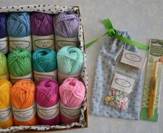 Granny Kit Crochet Kit Colourful Fun Box ready by CrochetObjet