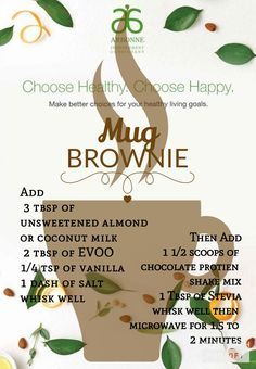 Arbonne Vegan Mug Brownie by doris Arbonne 30 Day Cleanse, Arbonne 30 Day Challenge, Arbonne Detox, Detox Challenge, Nutrition Education, Child Nutrition, Human Nutrition, Precision Nutrition, Universal Nutrition