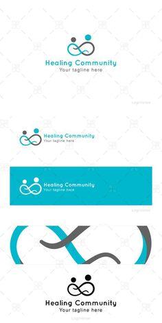 Healing Community - Human Icon Logo. Human Icons. $35.00