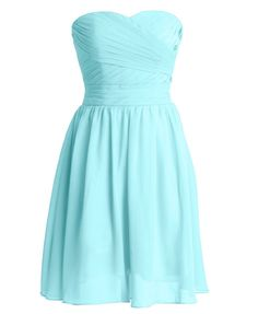 Short Strapless chiffon party dress evening dress