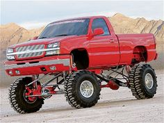 Custom 2004 Chevrolet Silverado - Red Rocket