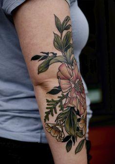 Tattoo Portfolio - tattoos by kirsten holliday Love Tattoos, Beautiful Tattoos, Body Art Tattoos, Color Tattoos, Floral Tattoos, Tatoos, Tattoo Henna, Arm Tattoo, Piercing Tattoo