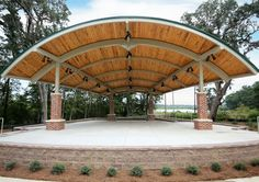 Poligon is the leader in the design, engineering, and manufacturing of open air steel shade structures, from your first ideas to completed installation. Steel Structure Buildings, Roof Structure, Shade Structure, Outdoor Stage, Outdoor Theater, Pavillion Design, Outdoor Pavillion, New Patio Ideas, Backyard Movie Theaters
