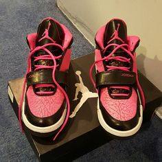 Girls Jordan FLTCLB 90's sneakers Worn around the house never out side. Very good condition with original box! SIZE IS MARKED 6YOUTH ALSO FITS WOMEN SIZE 5. Color description: PINK FOIL/BLACK-AND-WHITE (WILL EXCEPT BEST OFFER) Jordan Shoes Sneakers