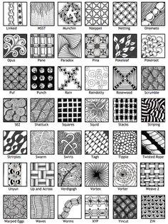 Official zentangle patterns