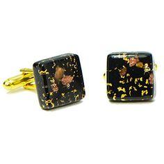 Gold Dust Murano Glass Cufflinks