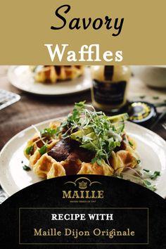 Healthy Waffles, Savory Waffles, Crepes And Waffles, Breakfast Waffles, Breakfast Recipes, Pancakes, Easy Cake Recipes, Bread Recipes, Cooking Recipes