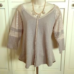Wet Seal Top Large Really cute Wet Seal Top - size large - sequins on arms. Never worn Wet Seal Tops Blouses
