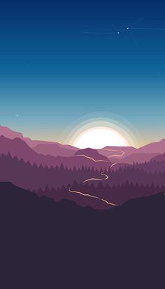 Landscape Wallpaper, Scenery Wallpaper, Nature Wallpaper, Landscape Art, Wallpaper Backgrounds, Iphone Wallpaper, Minimal Wallpaper, Graphic Wallpaper, Handy Wallpaper