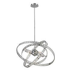 Saturn 6-light Chrome/ Crystal Chandelier   Overstock.com Shopping - The Best Deals on Chandeliers & Pendants