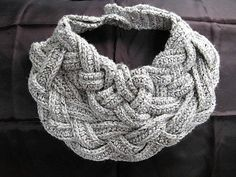 Braided Crochet Scarf by jvalone on Etsy
