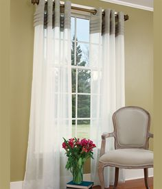 Table, Bed, Kitchen, Furniture: Grommet Top Curtains Designs Ideas ...