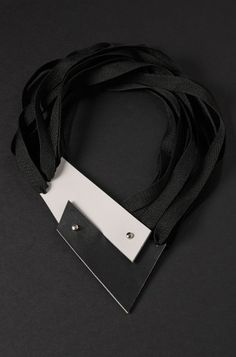 Aumorfia | ZZ | contemporary black leather necklace