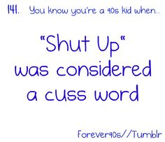 """I remember my older sisters saying this to us younger sisters. Mouth gaping open. """"I'm telling mom!"""" Lol"""