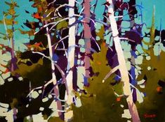 Ancient Fir, by Mike Svob Abstract Oil, Abstract Landscape, Landscape Paintings, Abstract Trees, Canadian Painters, Canadian Art, Winter Painting, Painting Trees, Tree Art