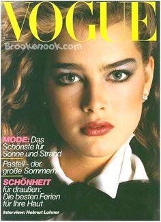 German Vogue 1980. Model: Brooke Shields.