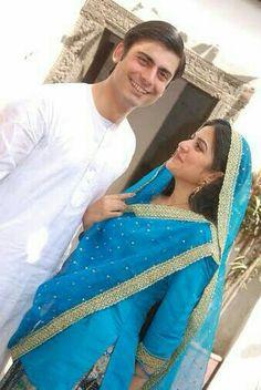 Fawad Khan and Sanam Baloch… Sanam Baloch Dresses, Pakistani Dramas Online, Pak Drama, Desi Wedding, Wedding Reception, Pakistani Actress, Celebs, Celebrities, Cute Couples