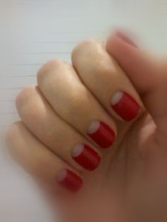 Reverse French Manicure - Tried this and it looked good! I got complements, too! :)