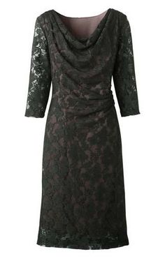 Dress Your Thinnest: #9 It's amazing what a little well-placed gathering will do for your waistline. This feminine number is ruched at one side, creating a slimming effect. Coldwater Creek Lacey Cowl Dress