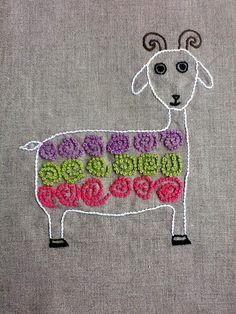 Free embroidery patterns.  This one will be great for the girls to practice French knots!