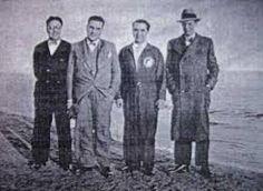 """Lorca con otros miembros de """"La Barraca"""", en Alicante"""